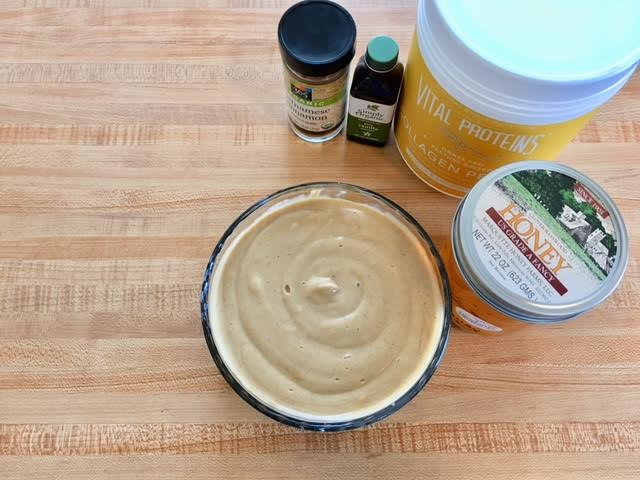 Collagen dessert hummus
