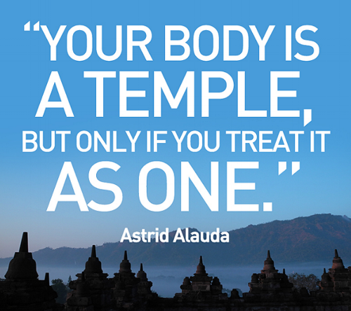 Astrid Alauda. Your body is a temple.