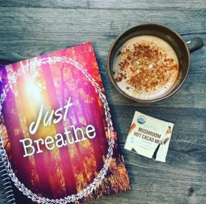 Caffeine-Free, homemade mushroom hot cacao. (Sayers, Kate). Instagram.