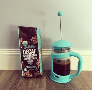 Decaf mushroom coffee. (Sayers, Kate). Instagram.