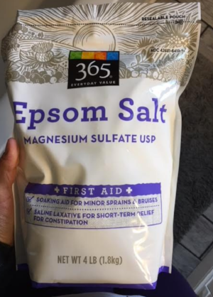 Epsom Salt Baths. Whole Foods.