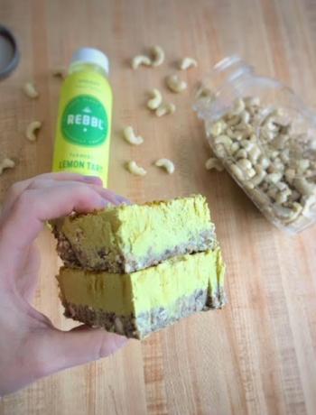 Turmeric Lemon Tart Vegan Cheesecake