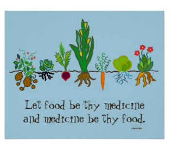 """let food be thy medicine..."" hippocrates."