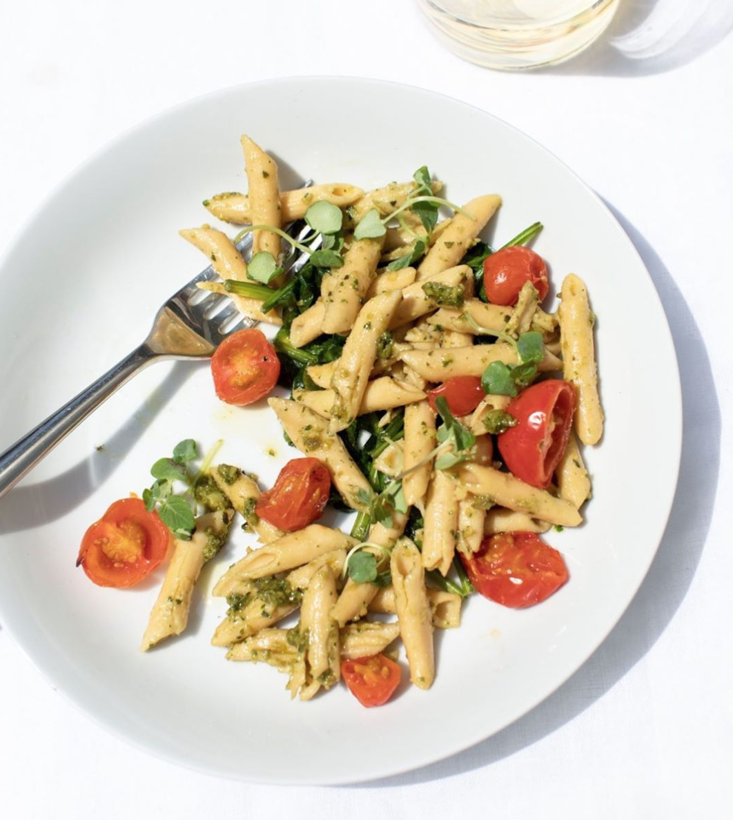 Fiber Herb Pesto Pasta, from  Sakara .