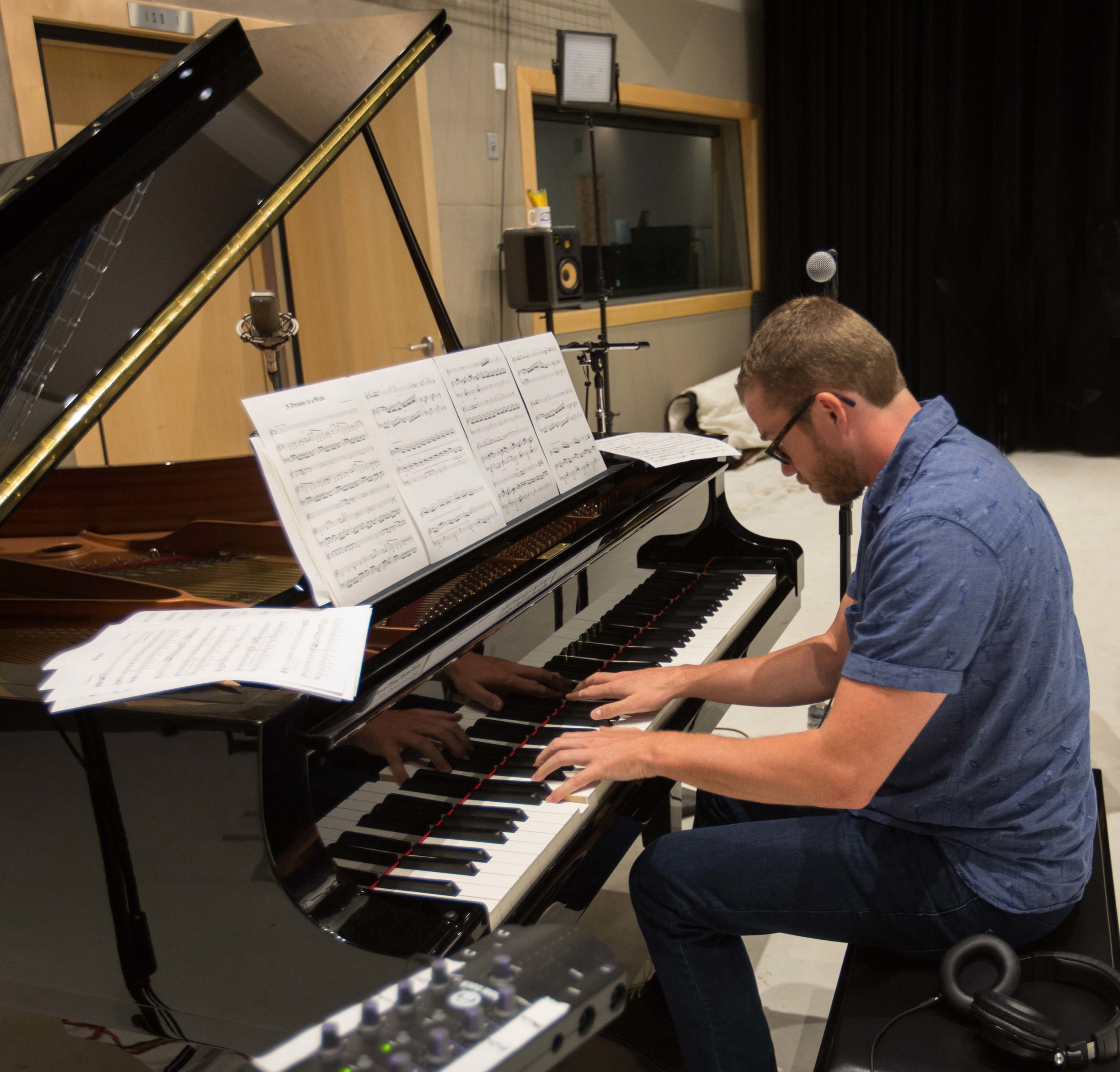 Jeannine Goeckeritz – Come Dream With Me Album – Recording Session – HUGEsound Post Production - Stephen Nelson - Piano.jpg
