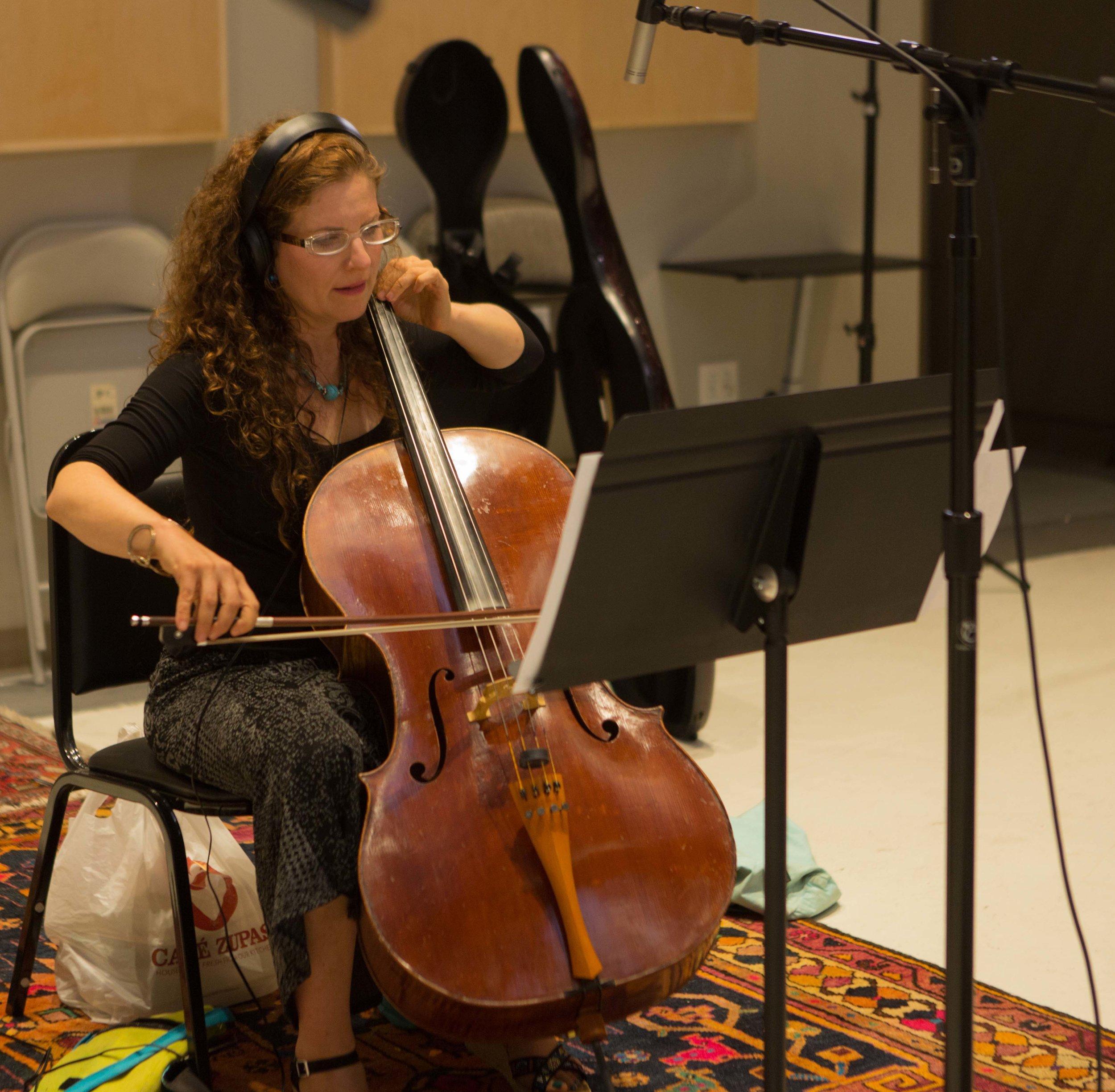 Jeannine Goeckeritz – Come Dream With Me Album – Recording Session – HUGEsound Post Production - Nicole Pinnell - Cello.jpg