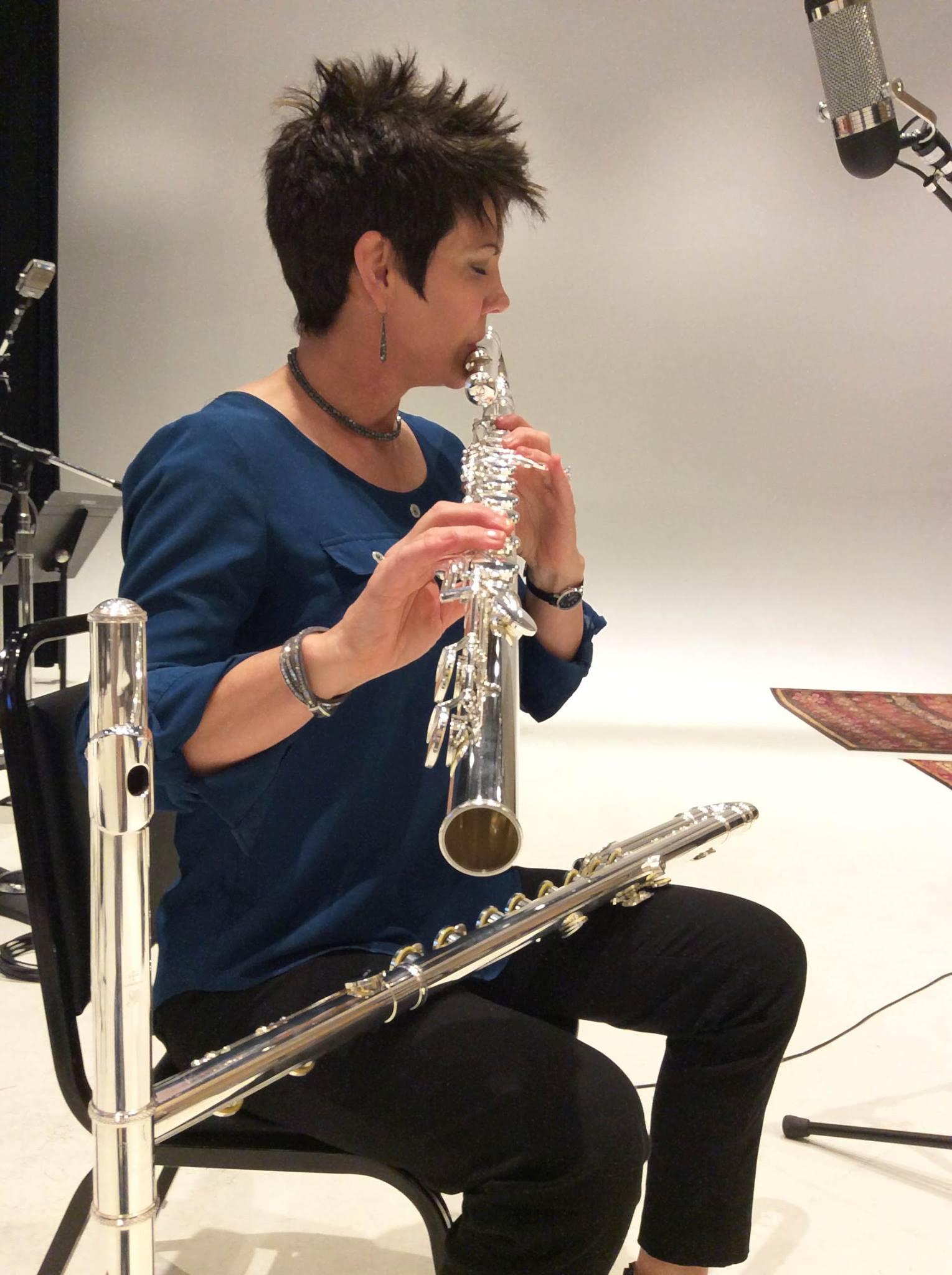 Jeannine Goeckeritz at HUGEsound Post Production. LOTRO Mordor Recording.jpg