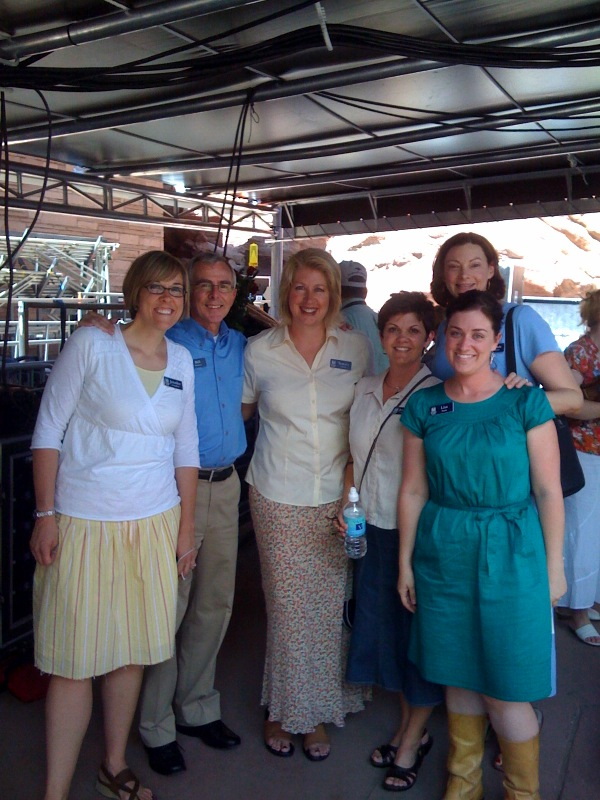 Red Rocks - Mormon Tabernacle Choir Tour - Jeannine Goeckeritz  with friends.jpg