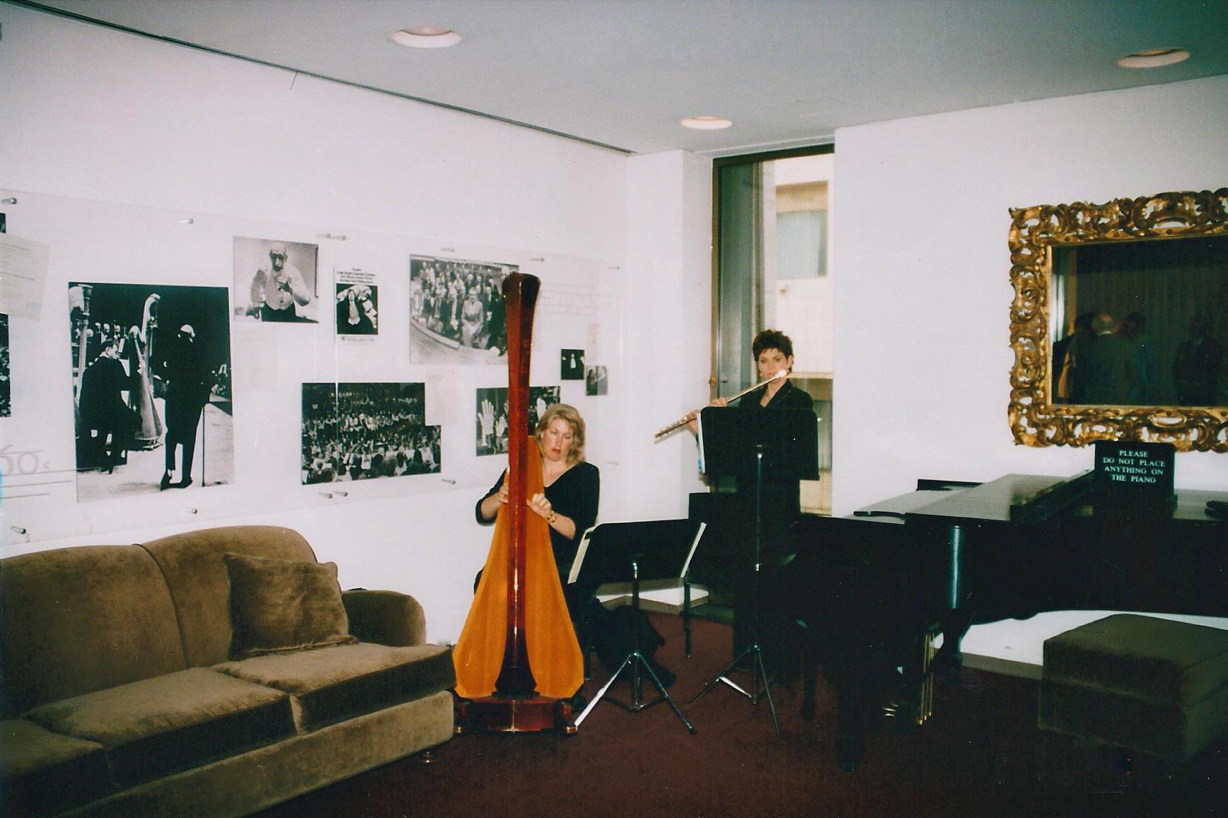 Jeannine Goeckeritz - Flute - Tamara Oswald - Harp - Backstage -Lincoln Center, NYC.jpg