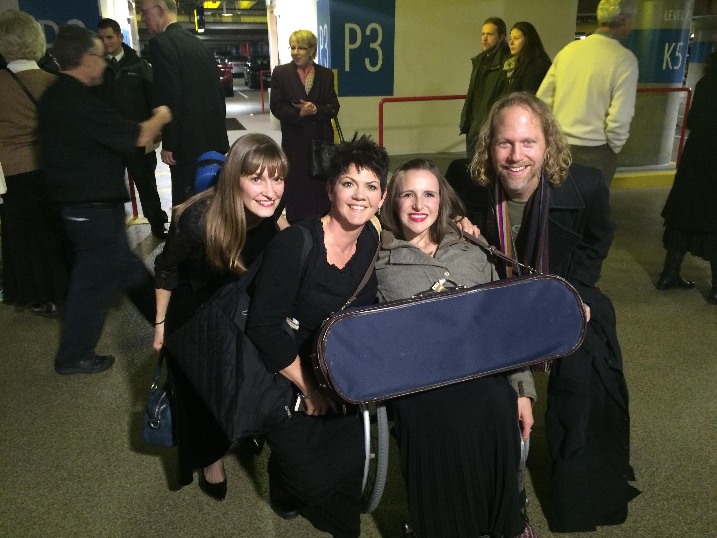 Christmas Concert - Jeannine Goeckeritz - Becca Goeckeritz - Peter Linz - Becca Moench - Backstage.jpg