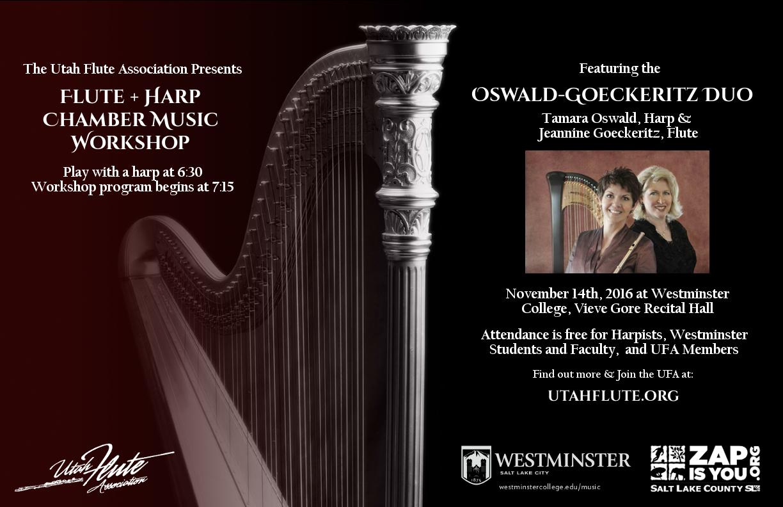 Jeannine Goeckerirtz - Flute -  Tamara Oswald -     Harp - Utah Flute Association Performance.jpg
