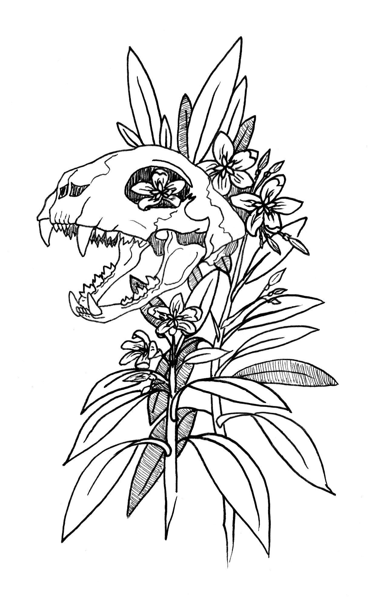 Oleander Feline, 2016   Pen