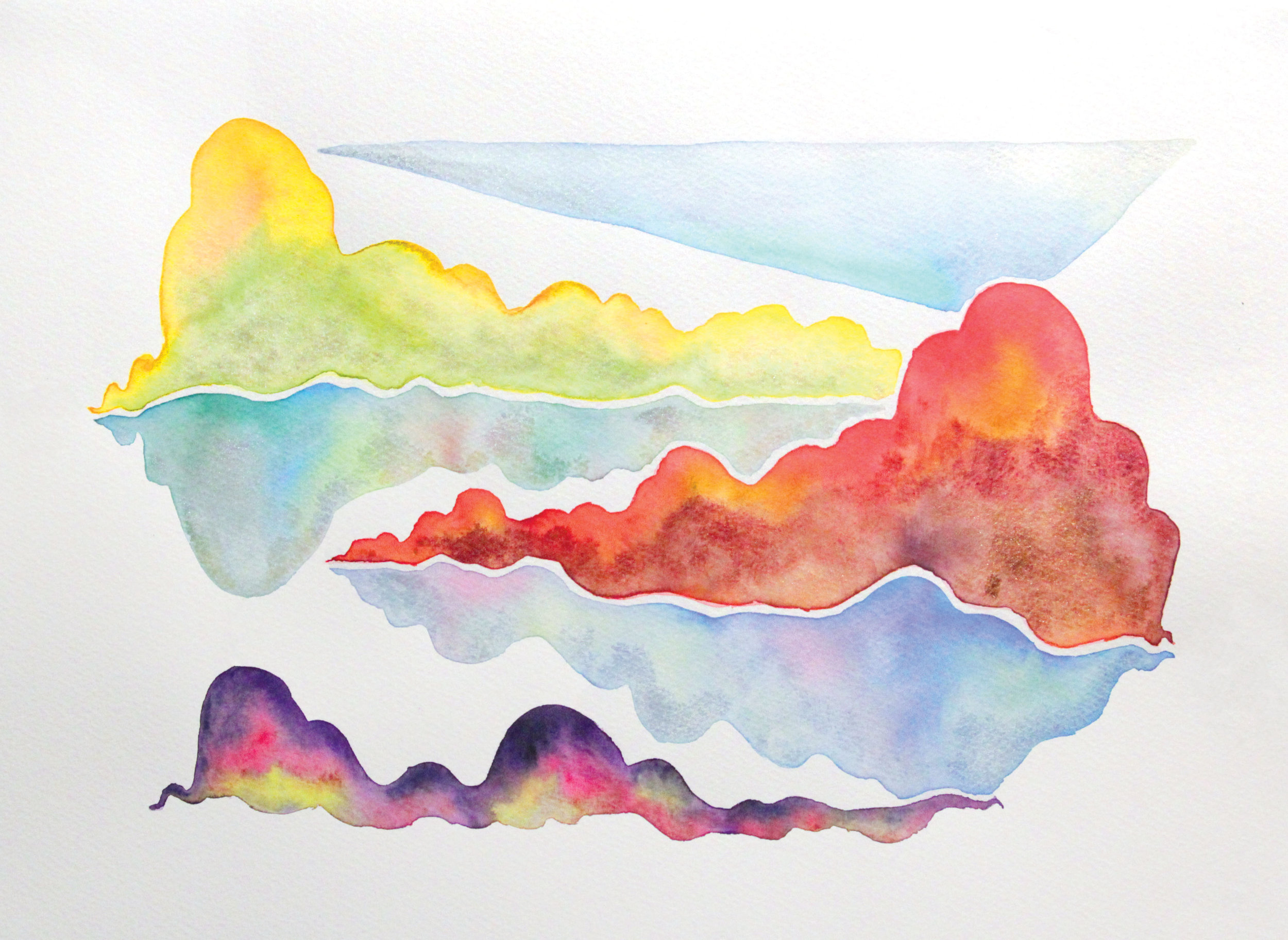 Ox-Bow 5, 2017   Watercolor