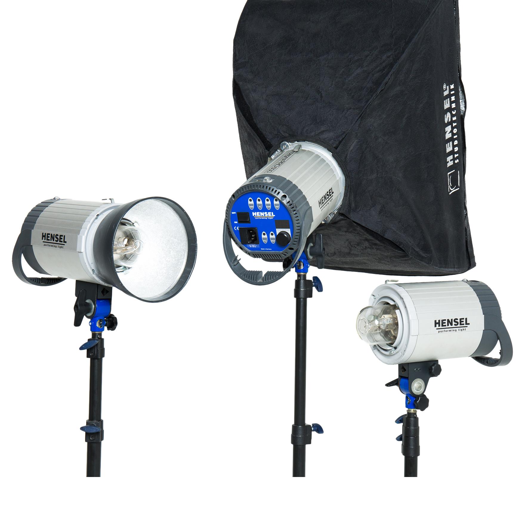 3x Hensel 500watt Monolights