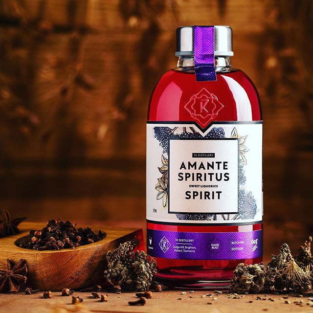 Last but not least. Amante Spiritus the Sweet Liquorice Spirit. 🖤😊🙌 #tasmanianspirits #liquorice