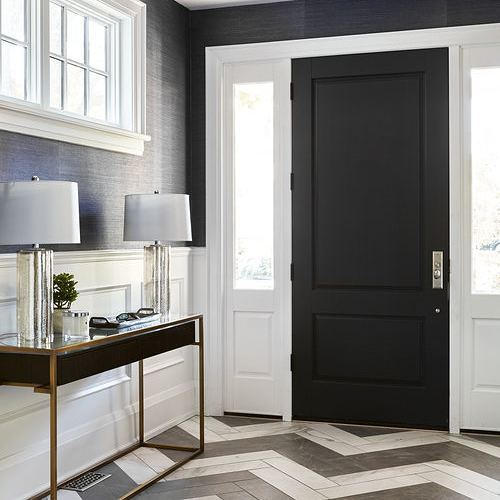 This entryway designed by @fohrdesignstudio is fantastic! I love the herringbone tile floors and the chic, sophisticated vibe of the space. Just wonderful!  #interiordesign #interiordesigninspiration #interiordesigninspo #interiorinspiration #interiorinspo #designinspiration #designinspo #entrywaydesign #entrywayinspiration #entrywayinspo #foyer #foyerdesign