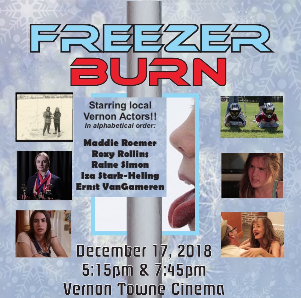 On December 17, 2018 we premiered a locally produced, twenty minute documentary entitled  Freezer Burn  prior to both of our regular Monday evening film screenings. Most of the film's cast and crew were in attendance on this special evening.