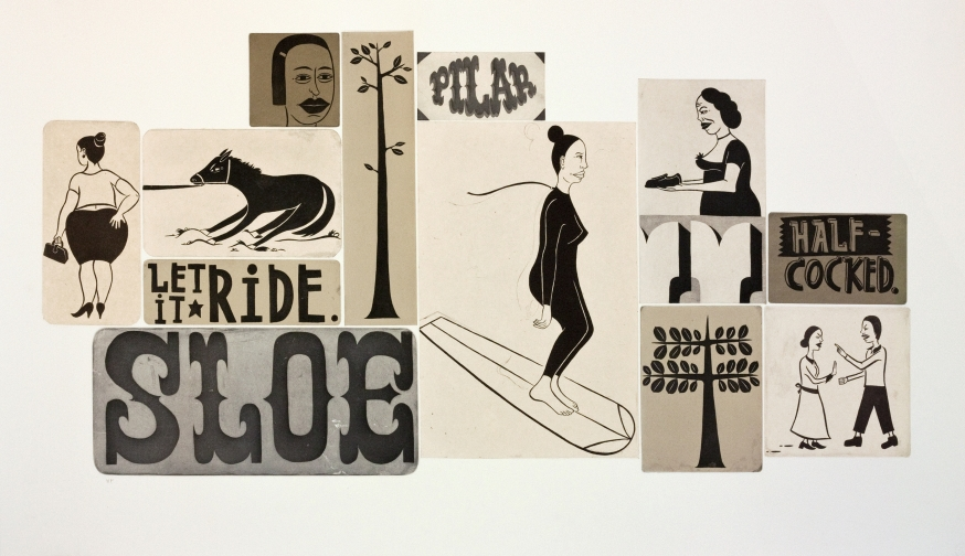 """UNTITLED,1999: Color spitbite and sugarlift aquatints, with chine colle, 54"""" x 31"""", edition of 30"""