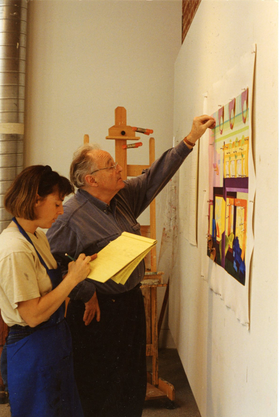 Renee Bott works with Al Held on  Embarcadero,  1994