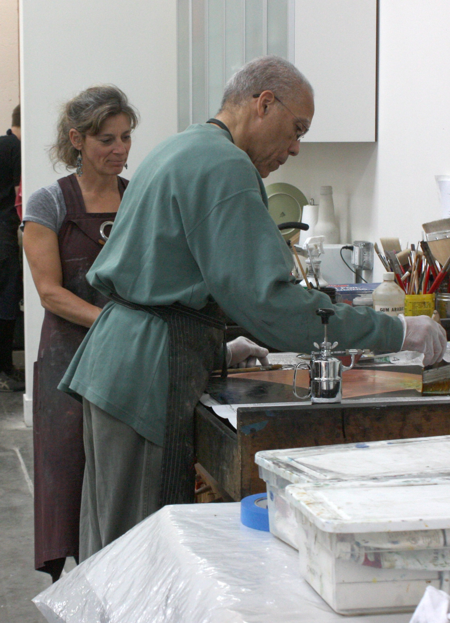 Renee Bott with Martin Puryear, 2012.