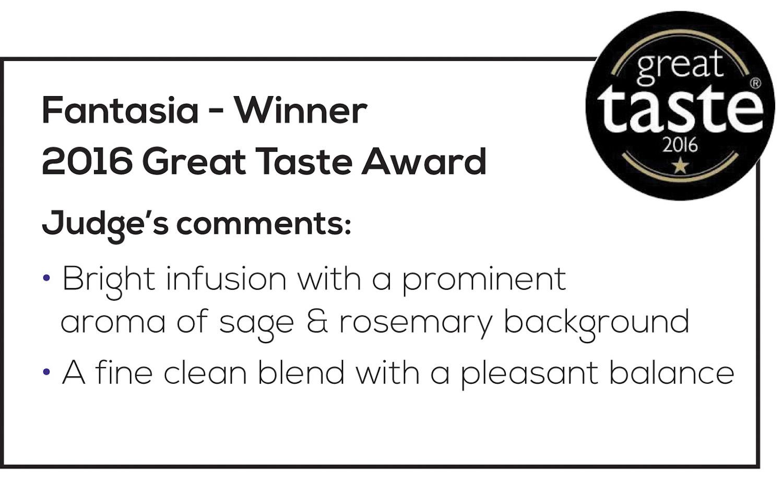 Fantasia 2016 Great Taste Award Comments