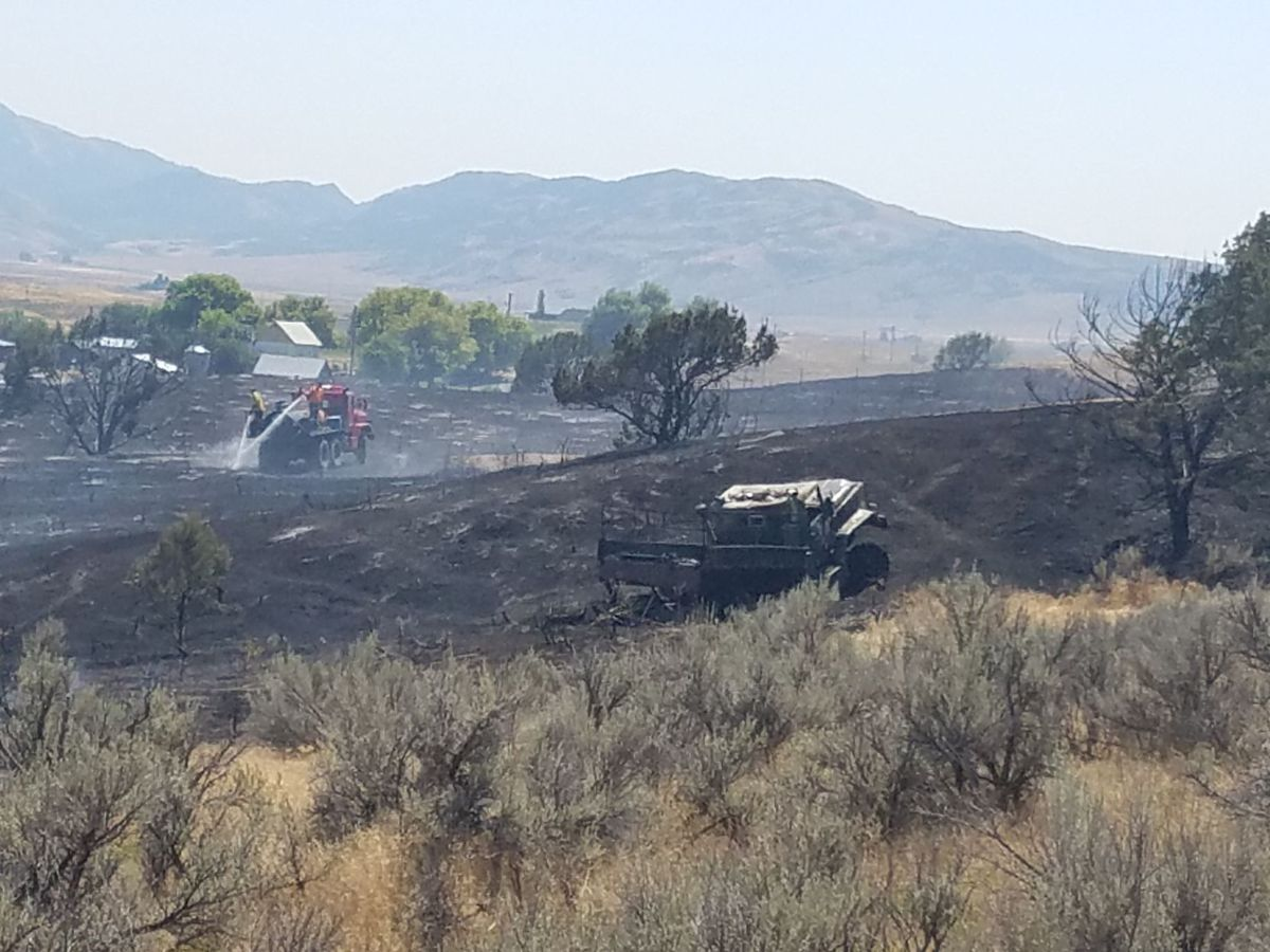 Three firefighters injured when fire truck destroyed by flames during 'freak accident' at wildfire scene.Five firefighters injured after battling ceiling collapse