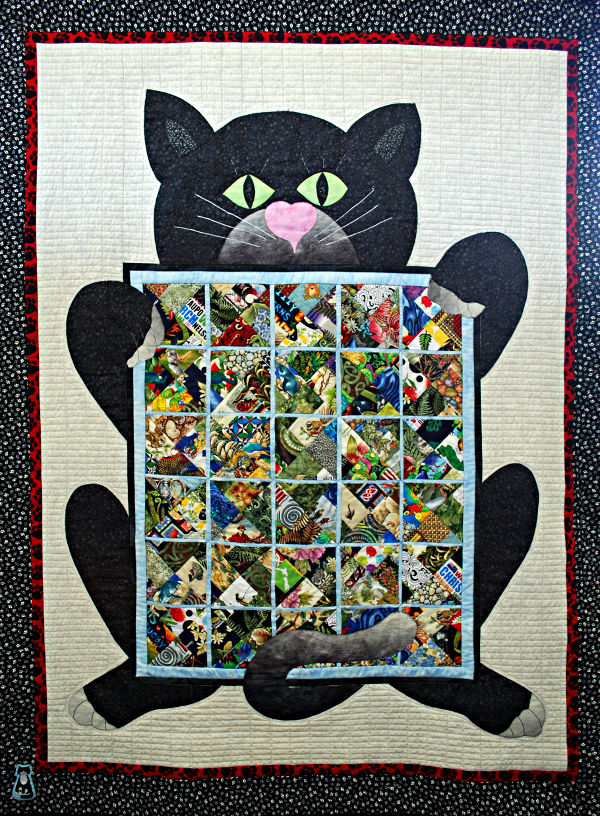 A cat and a quilt are like bread and jam - Valerie McNaughton