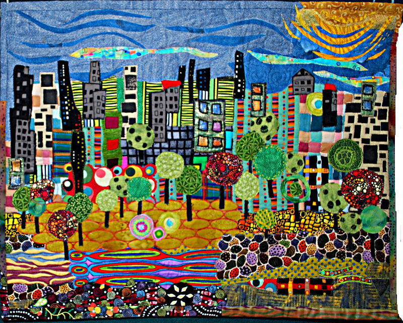 Show Committee Prize  -  Merit  -Hundertwasser II - The City Park - Donna Armstrong