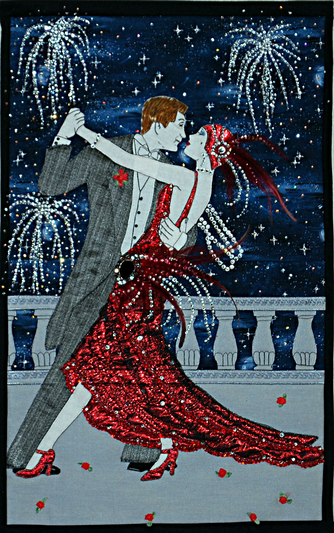 Motueka Quilt Show 2019: Lady in Red by Avon Haig of Aotearoa Quilters
