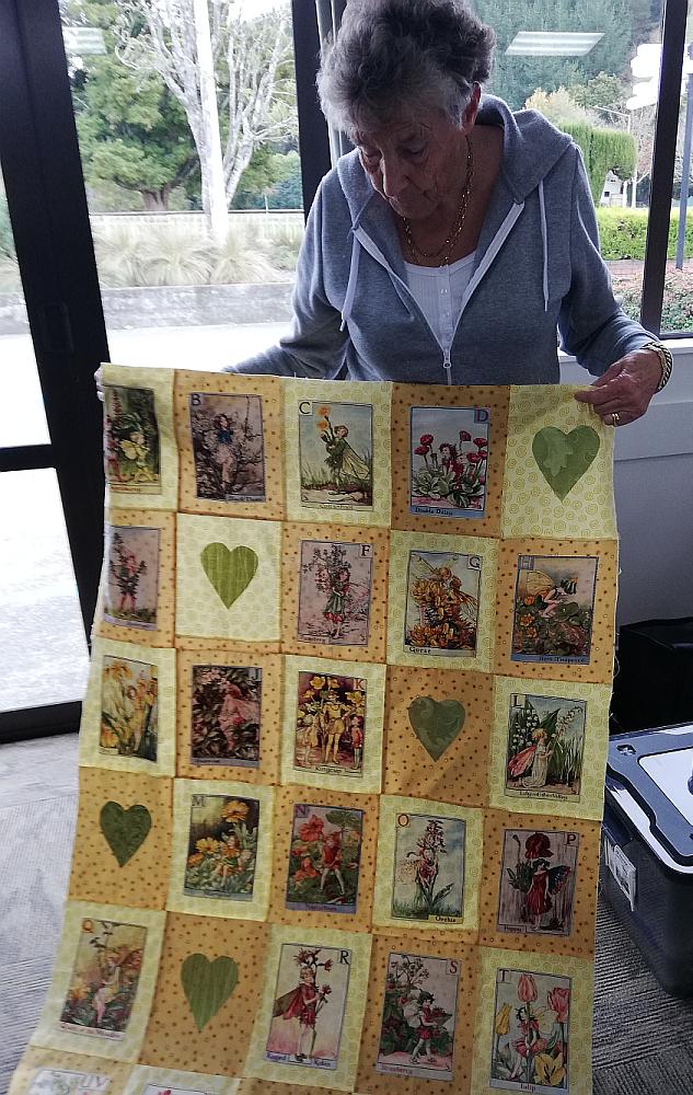 Jackie's quilt top in progress