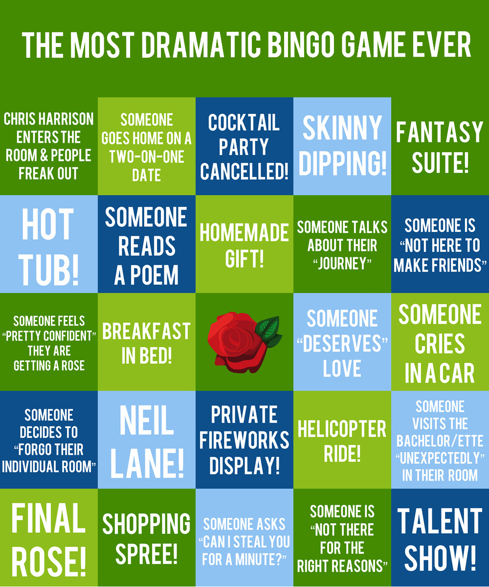 Bingo Card #4 - If your heart melts when someone reads a poem, gives a homemade gift, or talks about how much they deserve love, this card is for you!