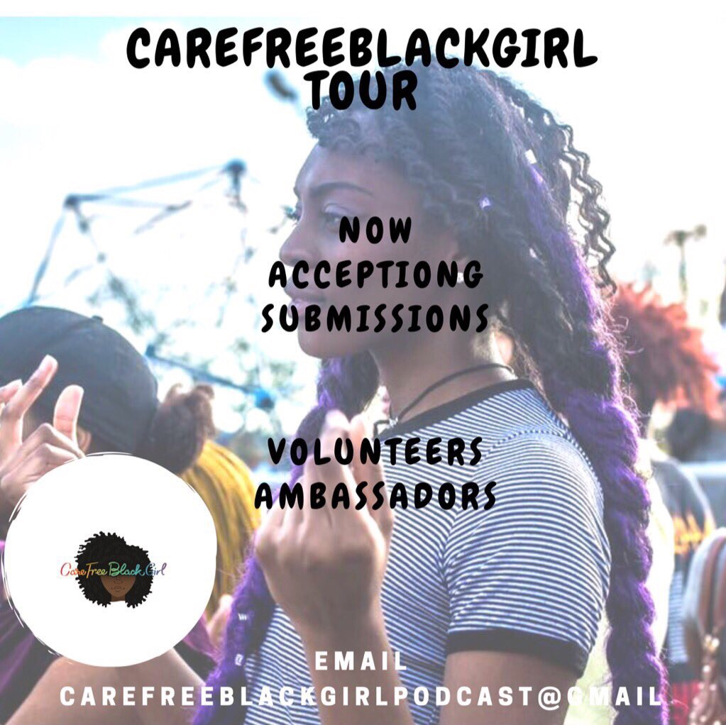 JOIN THE TEAM - Sign up to be a part of team CareFreeBlackGirl for 2019 year.Brand Ambassadors - are members of the team who assist with logistics , promotion and more .Volunteers- help with specific events