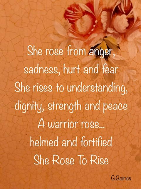 Poem written for She Rose To Rise art