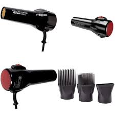 Red by Kiss Blowdryer: $27.50, Great for all textures of hair, detangles with ease. Great quality for price. Comes with two pick attachments & one concentrater.