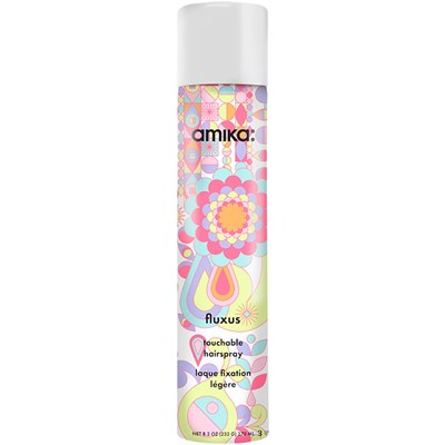 Amika's Fluxus Touchable Hairspray: $25, provides nice hold while still being able to touch your hair without it feeling crunchy
