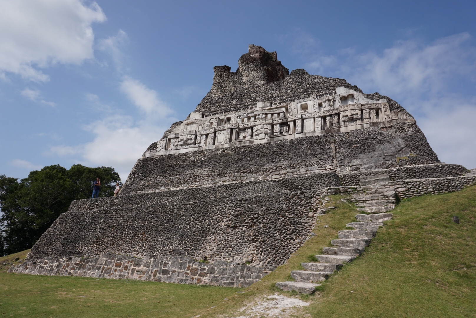 The Xunantunich ruins are the remnants of an ancient Mayan city dating to 700 CE. Photo: Chloe Berge