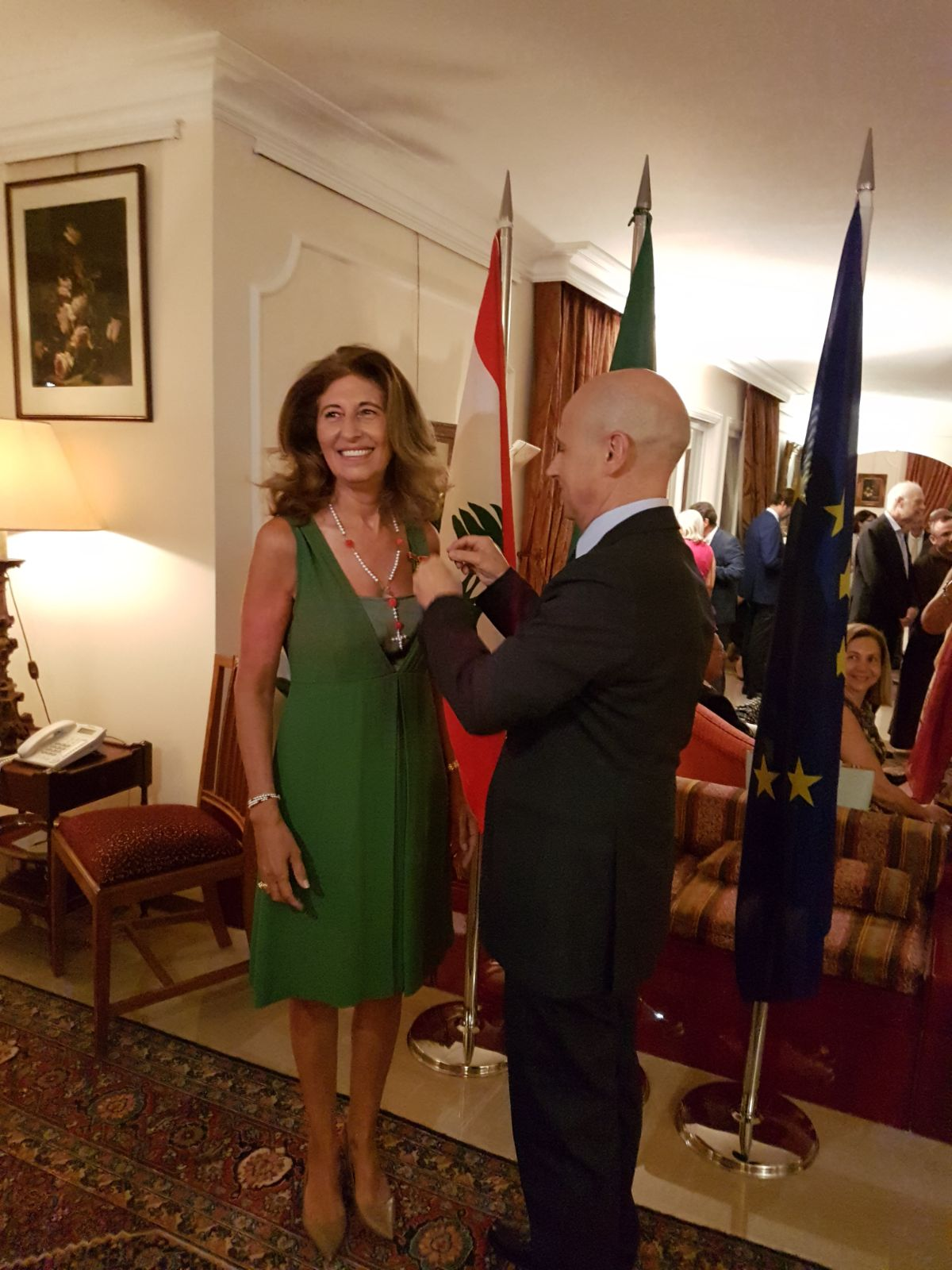 Mimo Semaan decorated Cavaliere dell'Ordine della Stella d'Italia by Italian ambassador Massimo Marotti, 30 years after the decoration of François Semaan - August 2017
