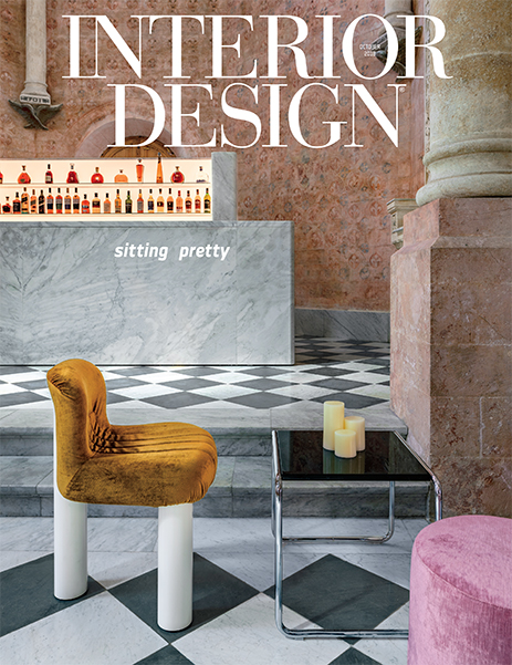 Botolo chair on the cover of  Interior Design, October 2018