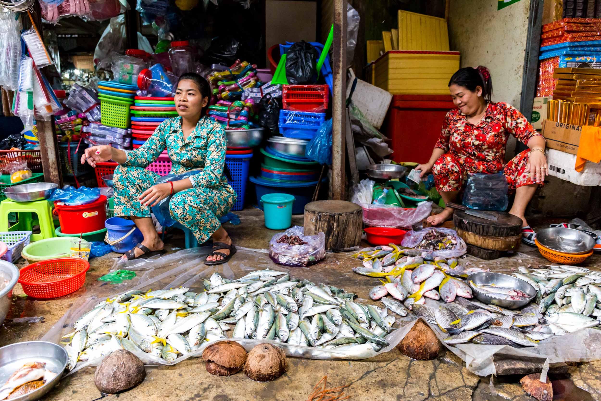 Local Market Stall, Sihanoukville, Cambodia.