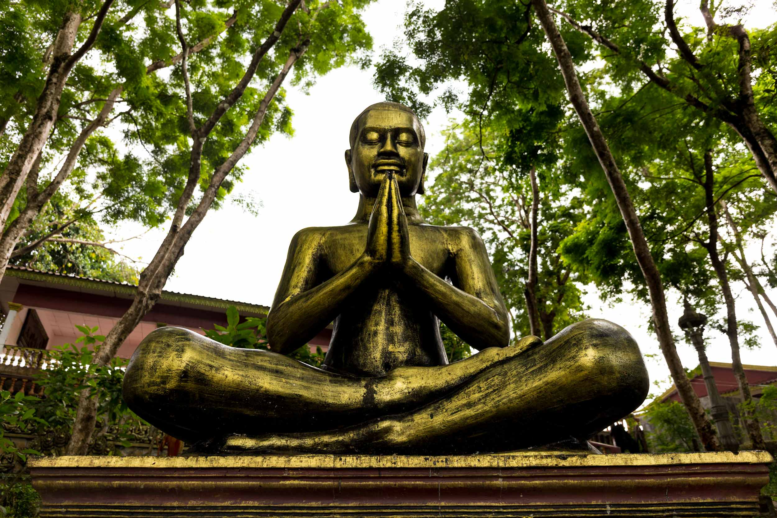 Praying Buddha - Sihanoukville, Cambodia - Rupert Turkington Travel Photography