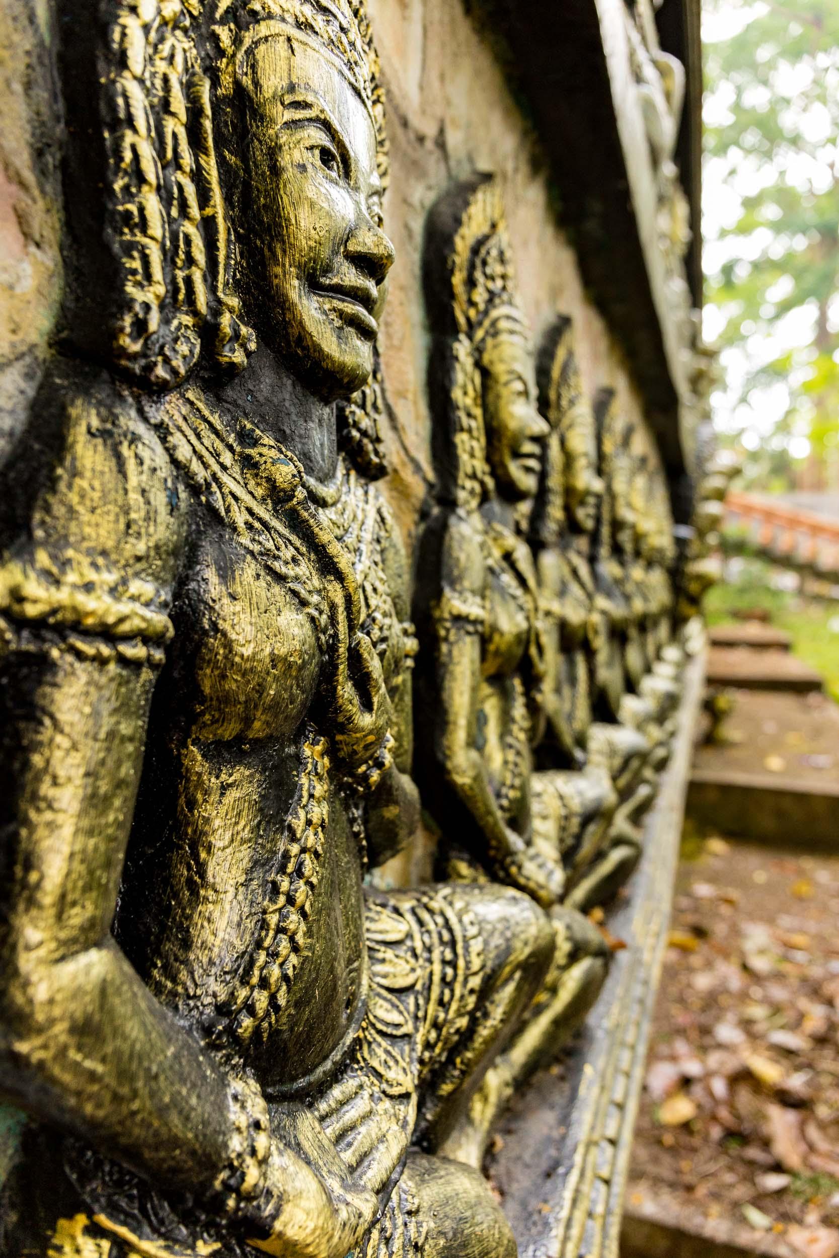 Wall momumnets at Buddha Temple, Sihanoukville, Cambodia - Rupert Turkington Travel Photography