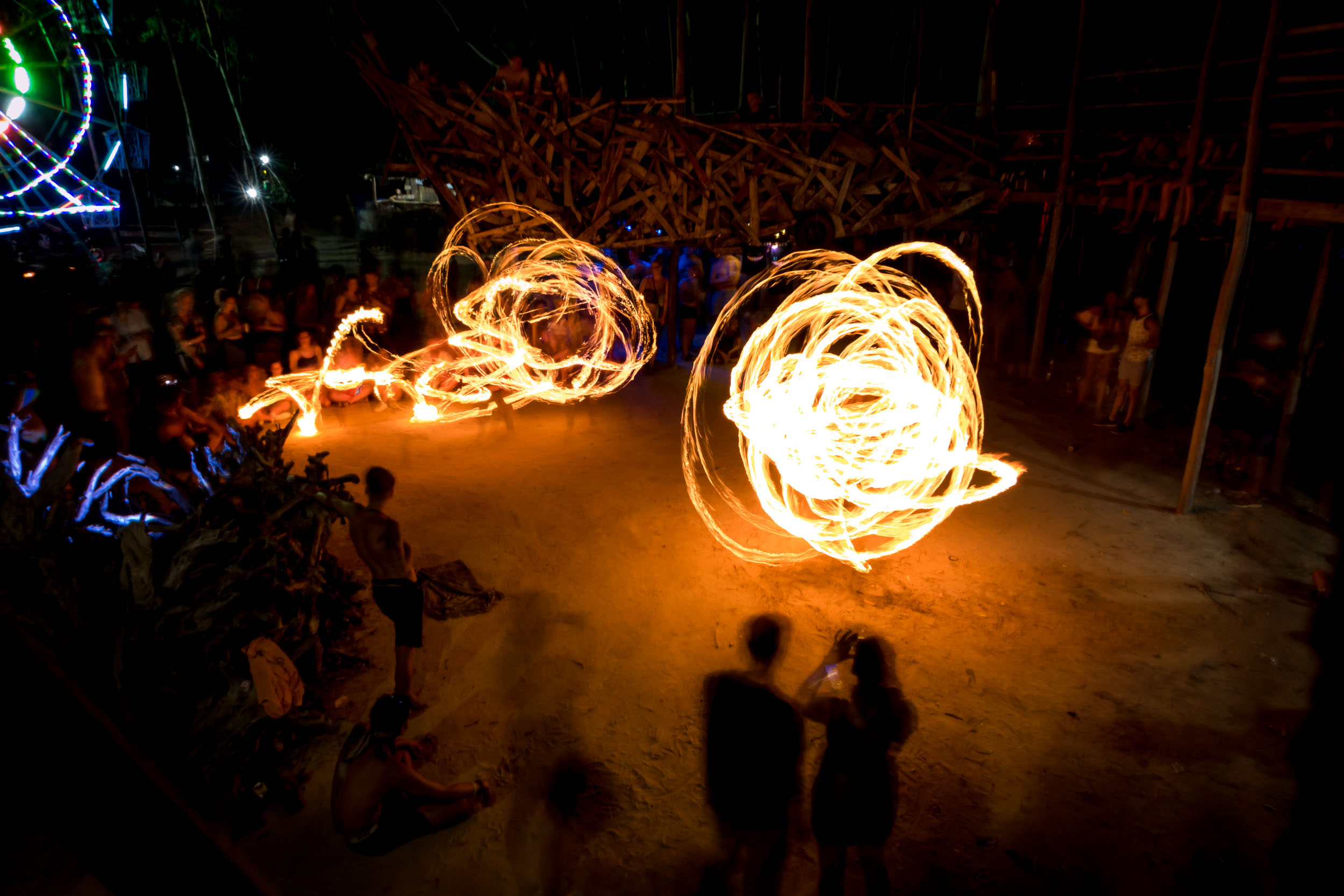 Kerfuffle - Fire Dancer, Otres Village, Sihanoukville, Cambodia.