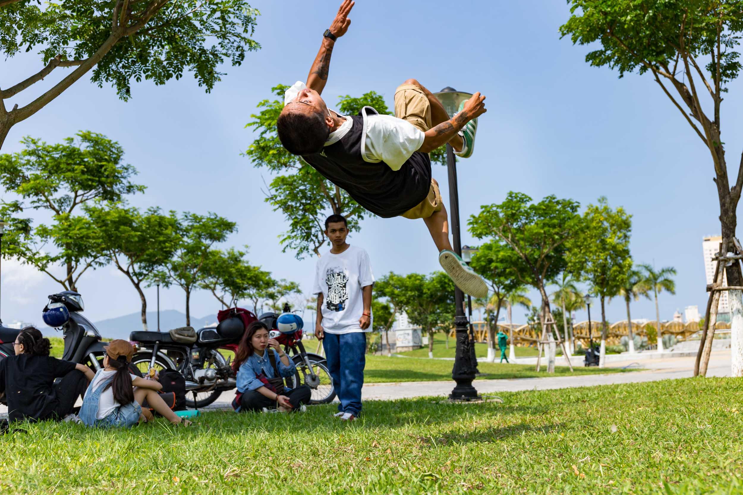 Breakdancer in Da Nang Vietnam.