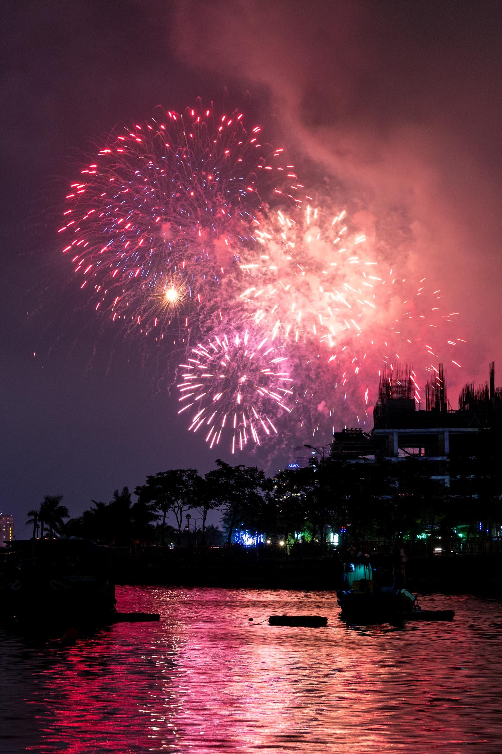 Fireworks in Da Nang. Vietnam