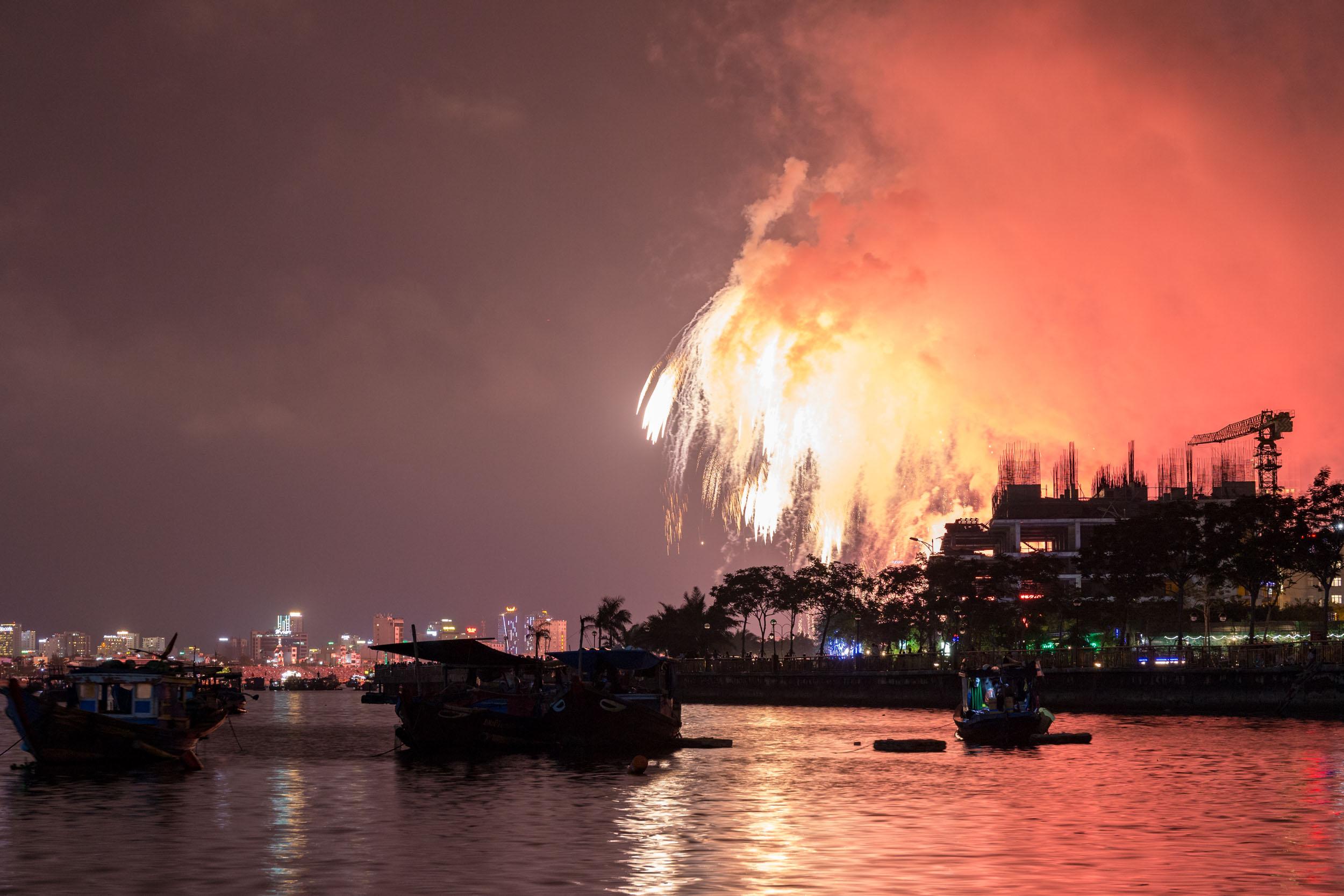Firework Display, Da Nang Vietnam.