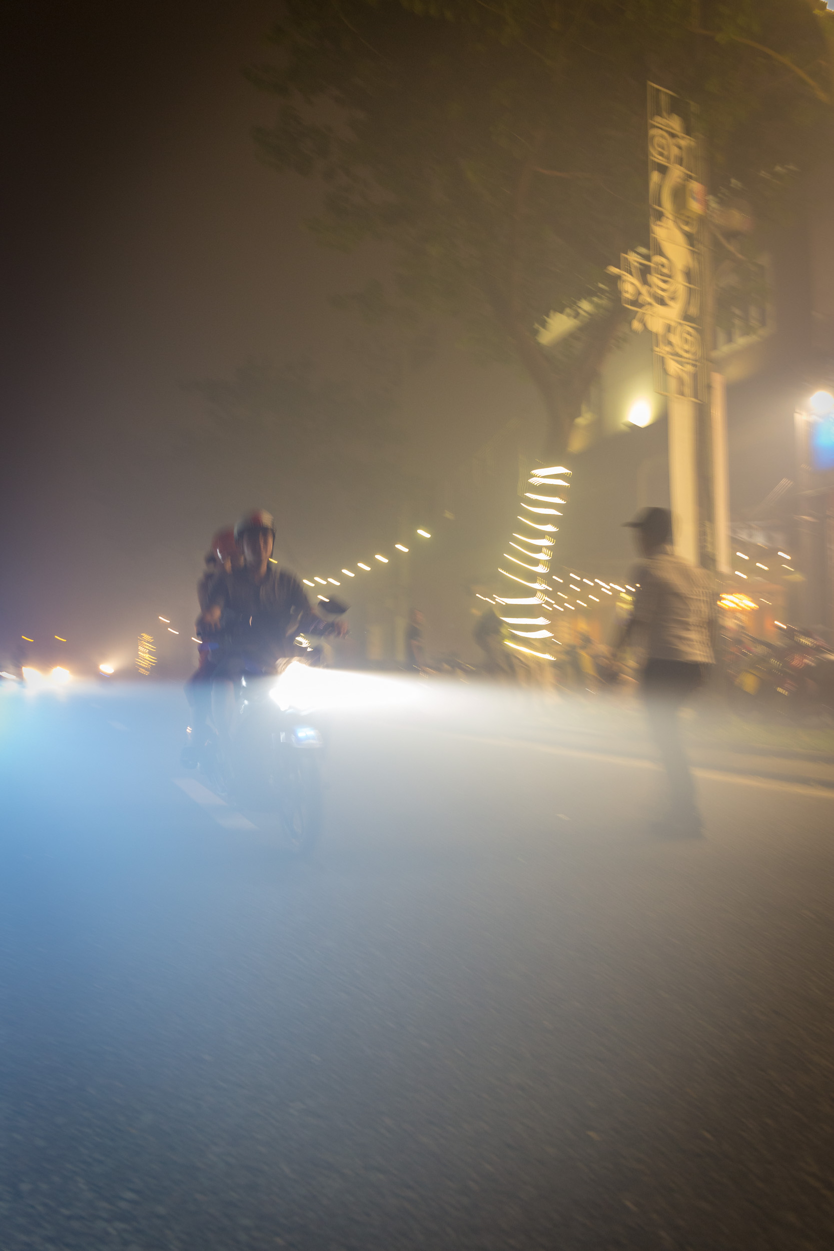 Smoke during Fireworks in Da Nang, Vietnam.