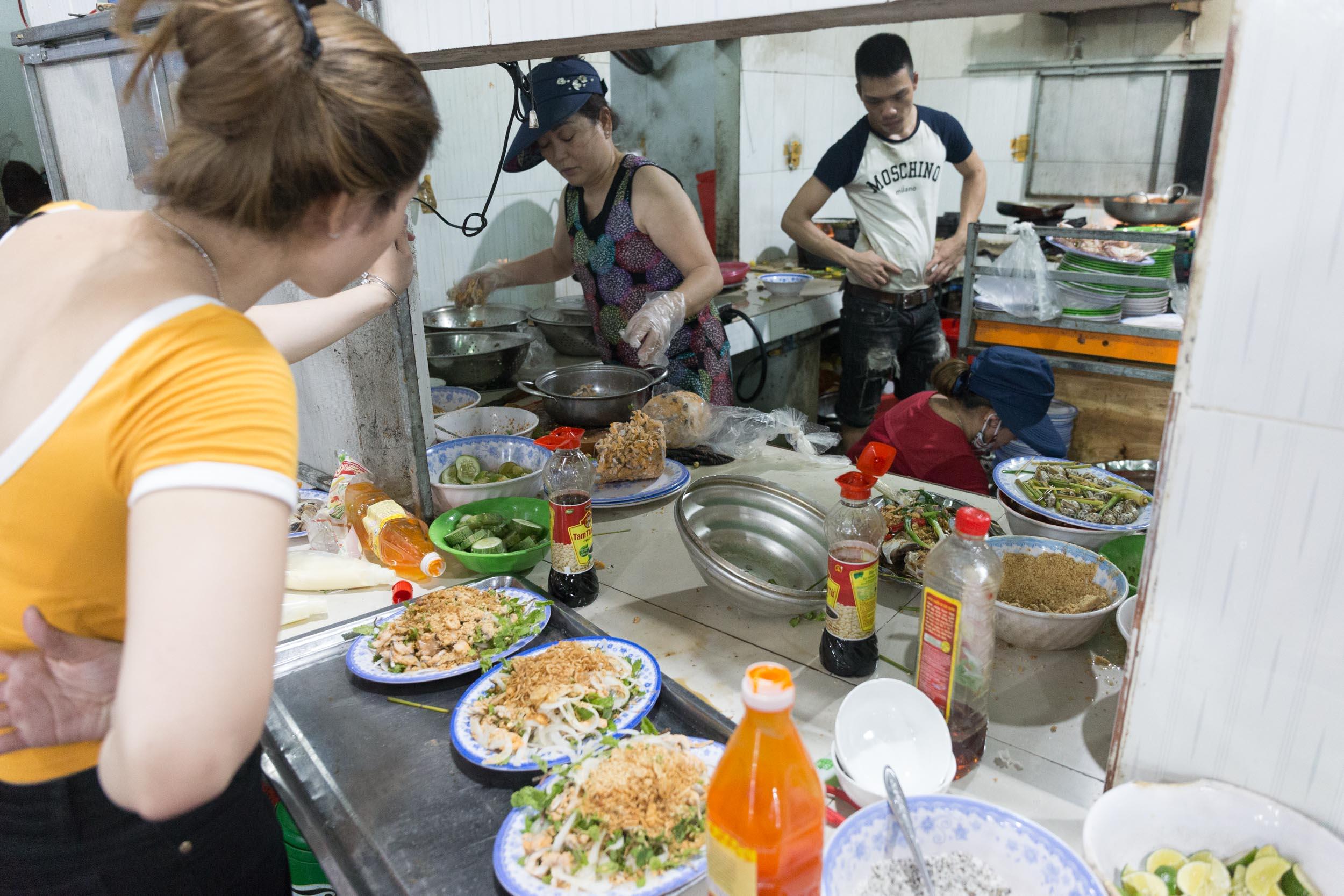The Pass at Hải sản Bà Rô, Seafood Restaurant Da Nang, Vietnam.