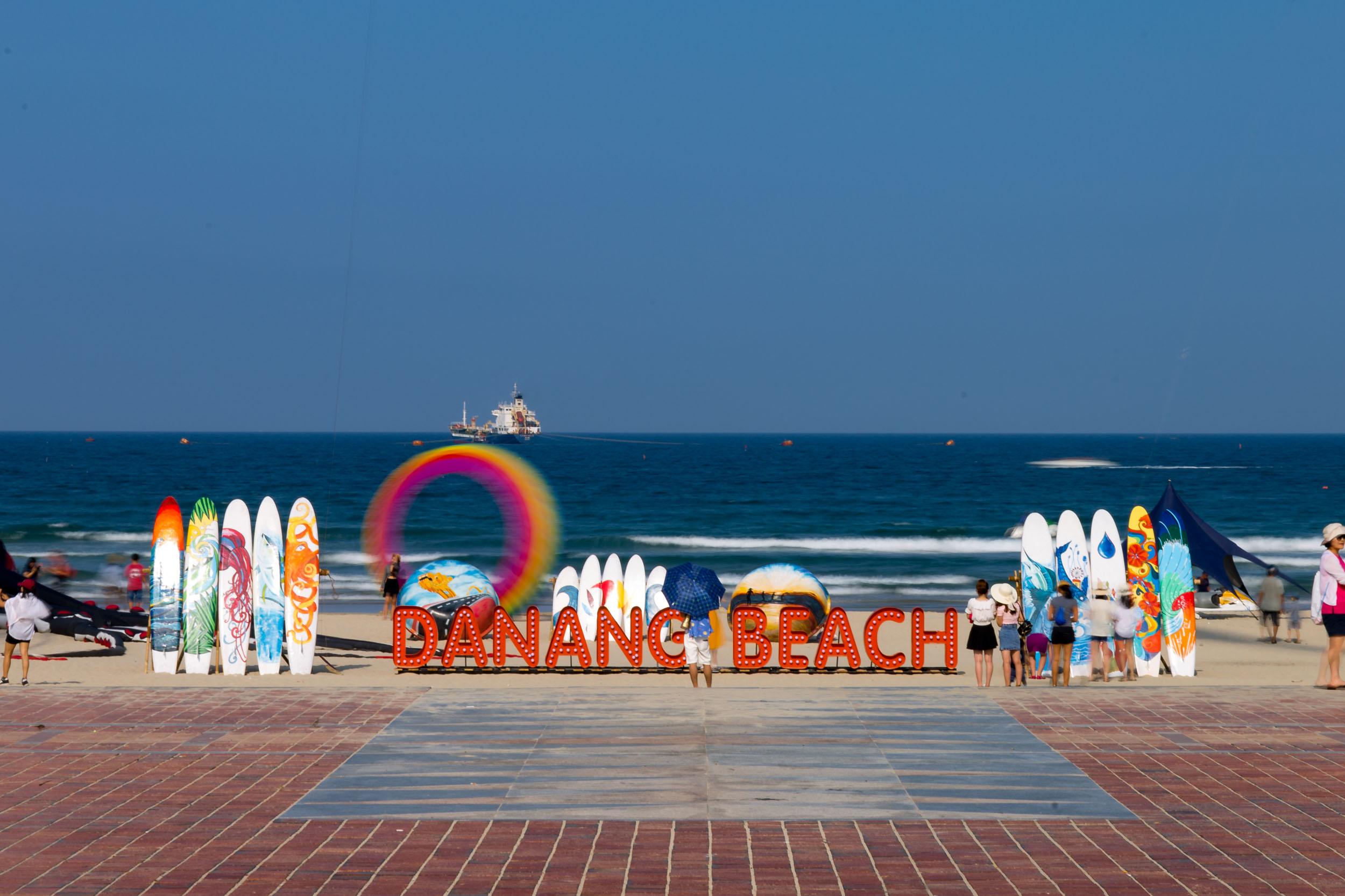 Da Nang beach Front Sign.