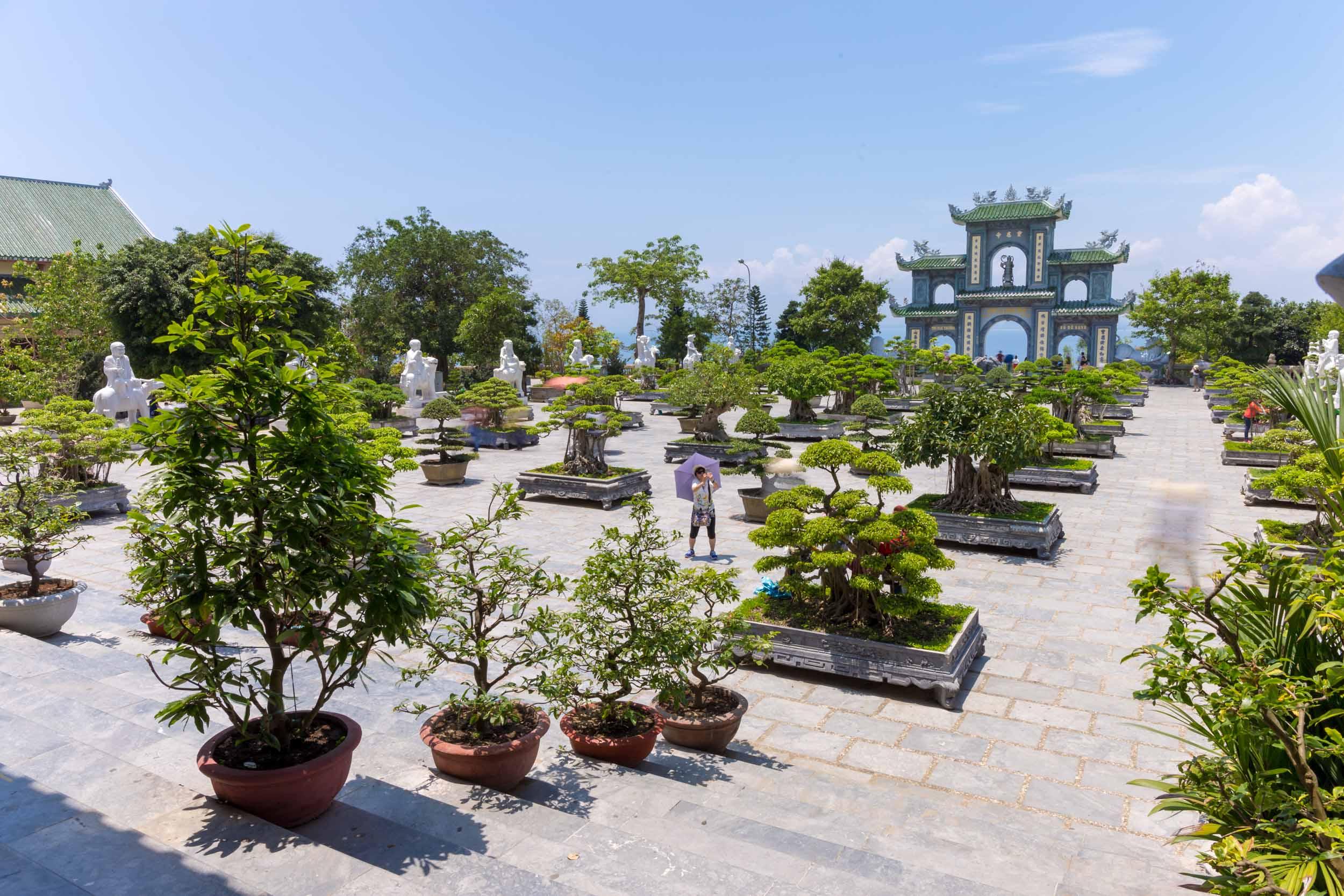 Temple courtyard, Son Tra, Da Nang, Vietnam.