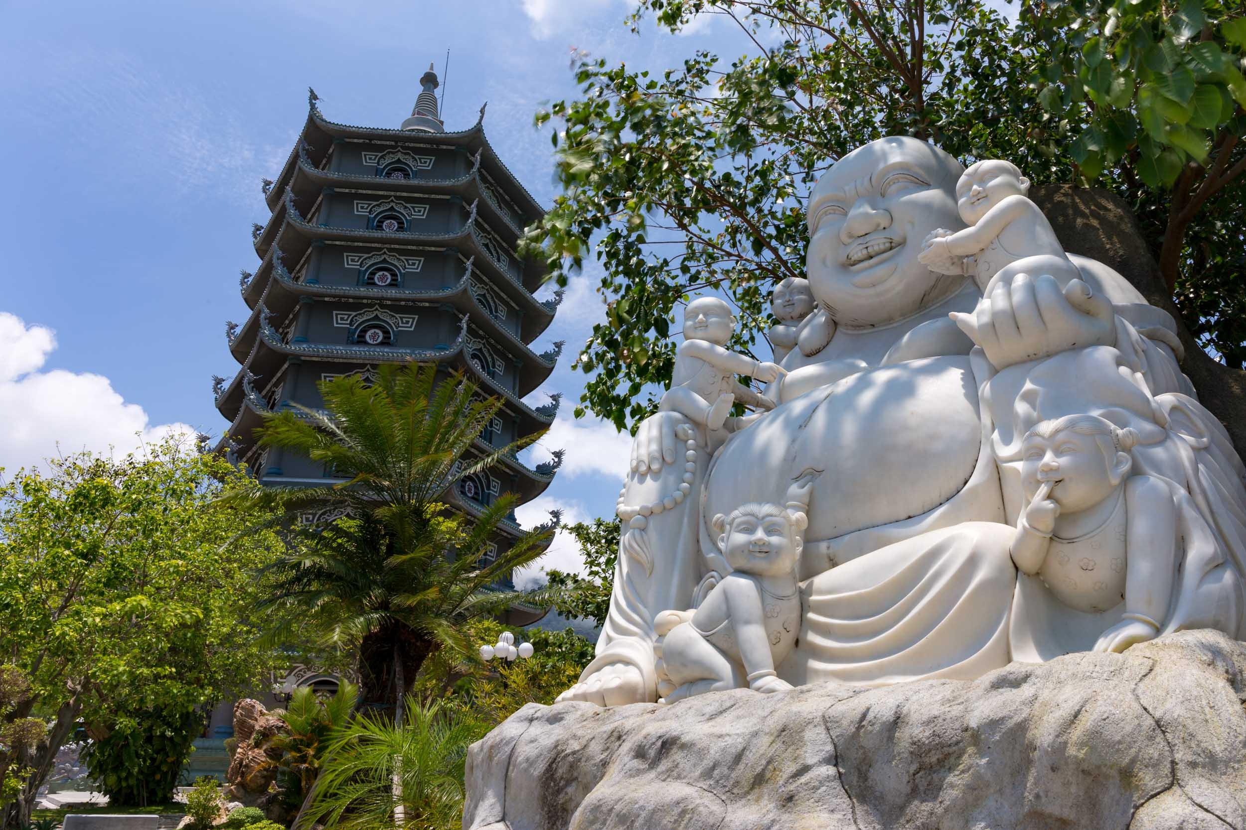 Giant Pagoda, Son Tra, Da Nang, Vietnam.